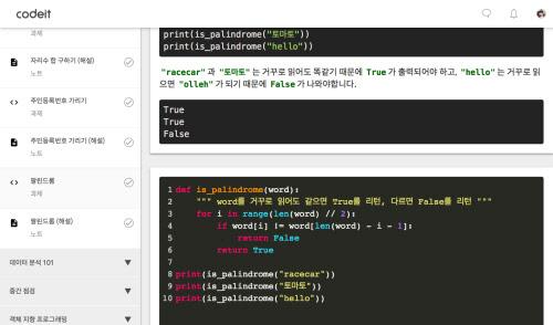 인공지능이 탑재된 온라인 코딩스쿨 `코드잇 101`